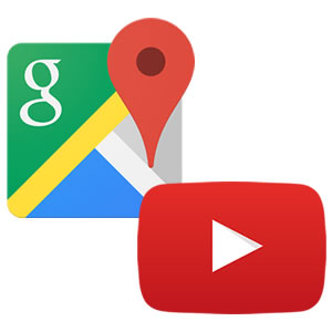 Logo Youtube et Google Map